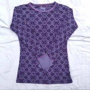 Purple Thermal Waffle Knit Shirt